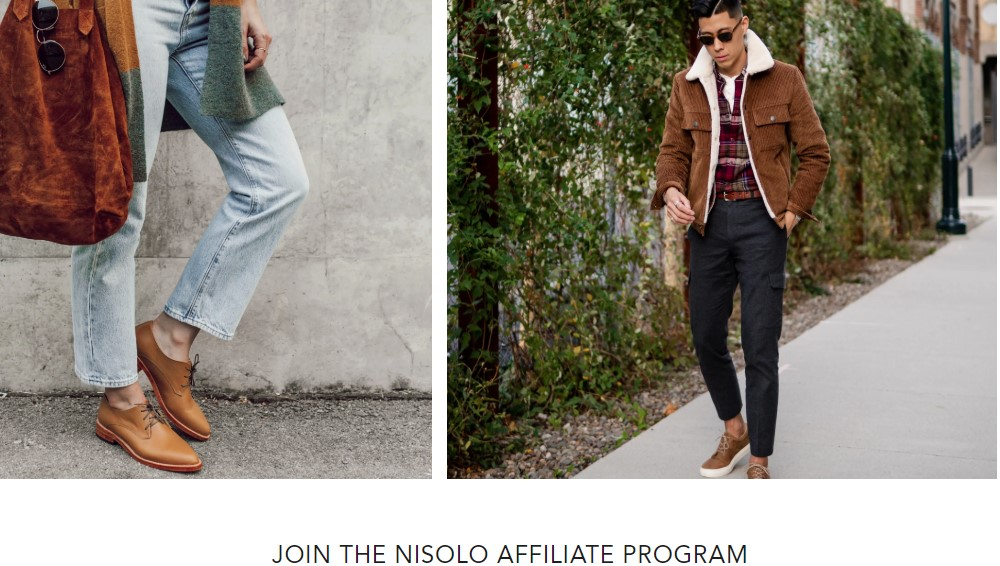 Nisolo affiliate sign up page
