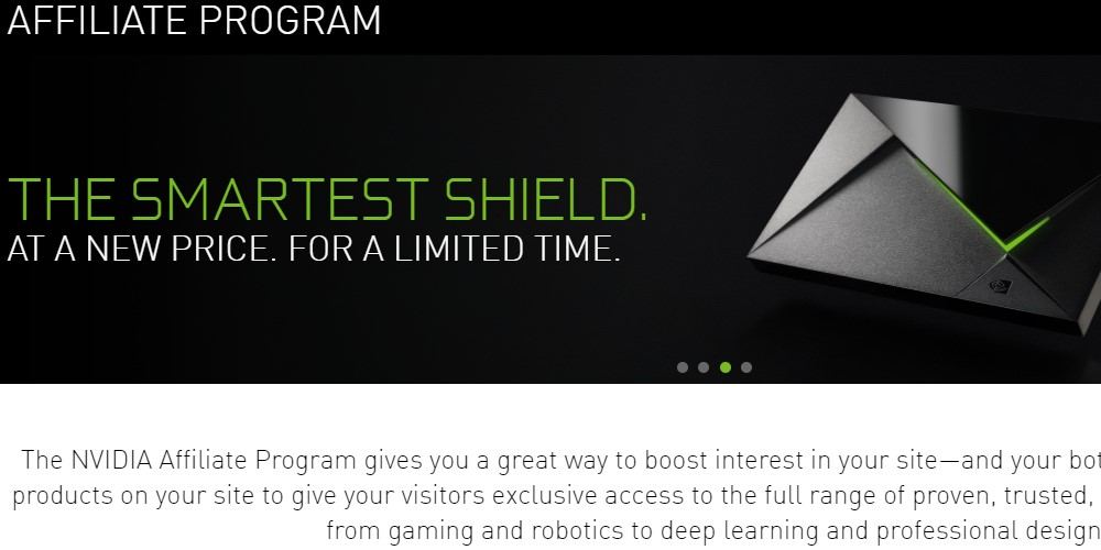 nvidia affiliate sign up page