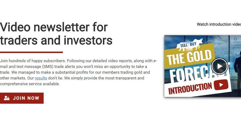 the gold forecast home page