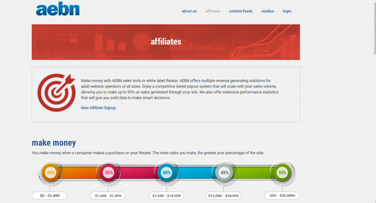 This is a screenshot taken from the affiliate page of AEBN.net, which is a resource for adult webmasters to affiliate with one of the largest gay porn broadcasters online.