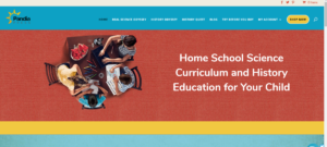 This is a screenshot taken from the PandiaPress.com website showing they homeschool science and history curriculum.